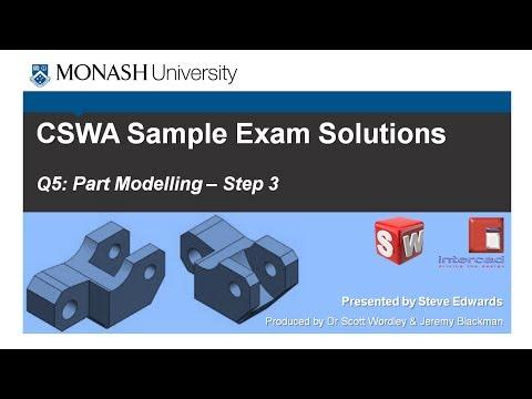 SolidWorks CSWA Practice Exam Solutions Part 5: Q5 Part ...