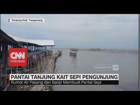 Pascatsunami Selat Sunda, Pantai Tanjung Kait Tangerang Sepi Pengunjung
