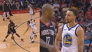 Stephen Curry Gets Sick Of James Harden Flopping! Warriors vs Rockets