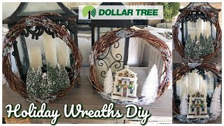 DOLLAR TREE DIY | $3.00 HOLIDAY WREATHS TUTORIAL