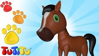 TuTiTu Animals | Animal Toys for Children | Horse and Friends