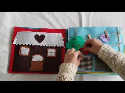 Manualidades Fantástico libro de fieltro o quite book con juegos divertidos