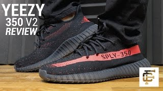 YEEZY BOOST 350 V2 BLACK RED REVIEW