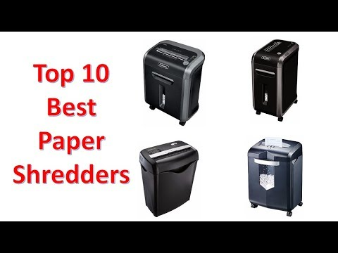Top 10 Best Paper Shredders of 2018 You Can Buy On Amazon
