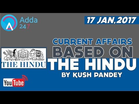CURRENT AFFAIRS & THE HINDU NEWS PAPER SHOW