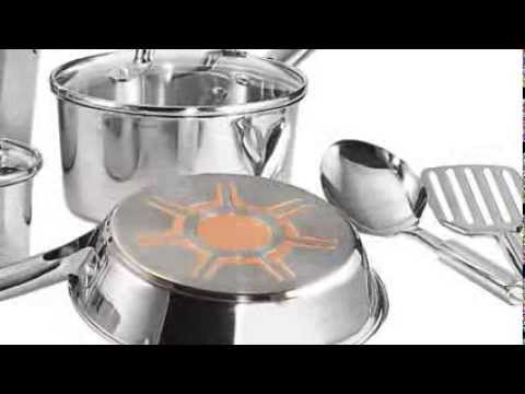 T-Fal C798SC64 Ultimate Stainless Steel Copper-Bottom Multi-Layer Base 12-Piece Cookware Set