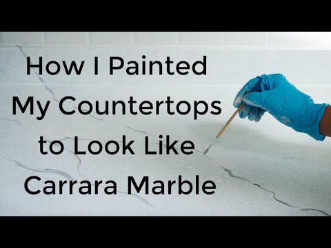 DIY: How to Paint Your Countertops and Backsplash (and spray paint old appliances)
