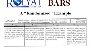 RCL Behaviorally Anchored Rating Scales Performance Evaluation System