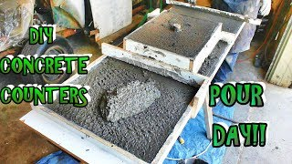How To Mix, Pour And Finish Your Own Concrete Countertops. Step By Step DIY Countertops