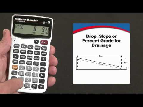 Construction Master Pro - Drop or Slope Calculations