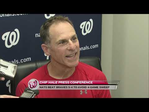 Chip Hale after Nats' win over Braves