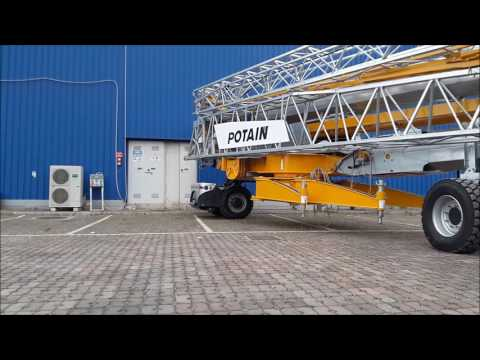 GAPO transport and positioning Potain Hup cranes