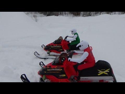 Rc Snowmobile Brushless Skidoo New Bright 800 Mxz Big Jumping