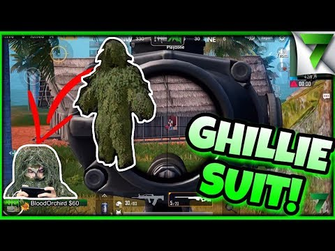 WEARING GHILLIE SUIT IN REAL LIFE & PUBG MOBILE! - The7WorldsGaming
