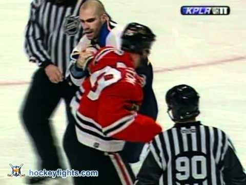 Barret Jackman vs Shawn Thornton