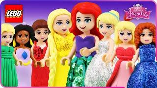 ♥ LEGO Disney Princess ENCHANTED TALES Compilation (Ariel, Frozen, Rapunzel, Cinderella..)
