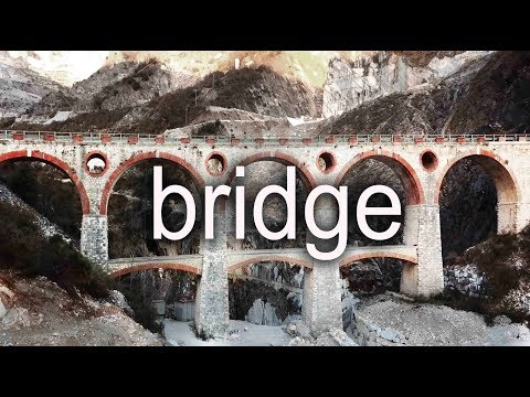 A bridge in the Carrara marble quarries, Italy