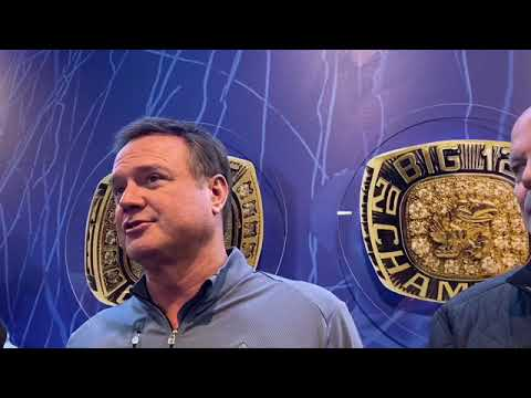 Bill Self speaks to media before final exhibition contest