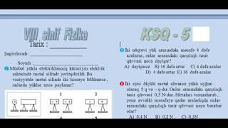 8 sinif Fizika  KSQ-5