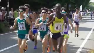 関東インカレ男子2部ハーフマラソンカリウキ優勝/帝京2,3フィニッシュ2018.5.27