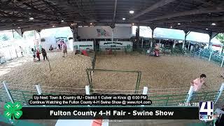 Fulton County 4-H Fair - Swine Show - 7-10-19