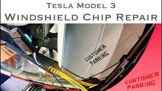 Safelite windshield repair on Tesla Model 3