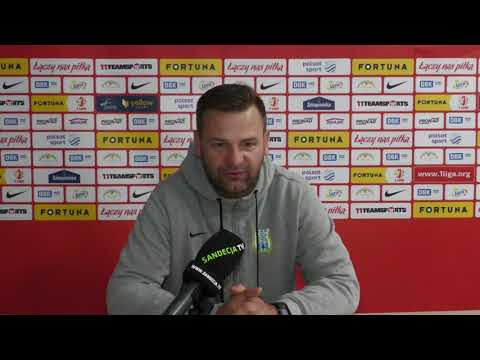 Trenerzy po meczu Stomil Olsztyn - Sandecja Nowy Sącz 1:0