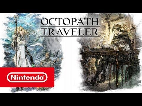 Présentation Cyrus et Ophilia de Octopath Traveler