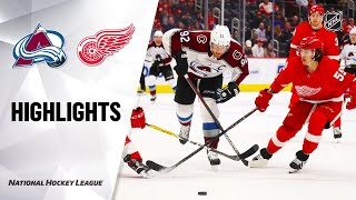 NHL Highlights | Avalanche @ Red Wings 3/2/20