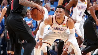 Russell Westbrook Scores 1 Point 2nd Half Game 4! 2019 NBA Playoffs
