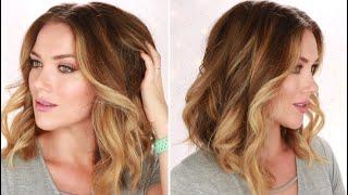 HOW TO CURL YOUR HAIR FOR BIG SOFT BEACH WAVES | SHORT TO MEDIUM HAIR | RITA ALMUSA