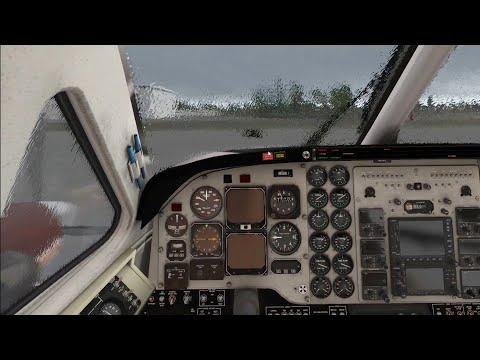 X-Plane 11 - Default Cessna C172 rain windshield effect