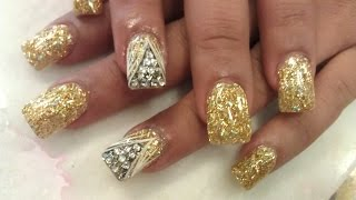 HOW TO GENX GOLDEN NAILS CONFETTI Part 3