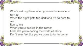 Brad Martin - Run to Me Lyrics