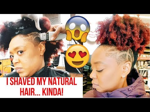 I SHAVED THE SIDE OF MY HEAD! | NATURAL HAIR VLOG | THE CURLY CLOSET
