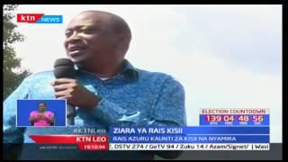 Rais Uhuru Kenyatta azuru Kisii kwa ziara ya kuwarai wapiga kura kumuunga mkono