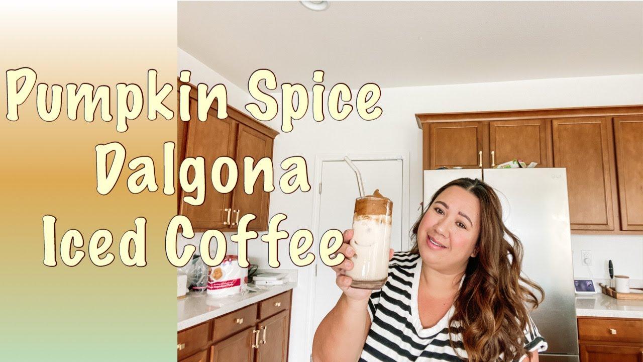 Pumpkin Spice Dalgona Iced Coffee