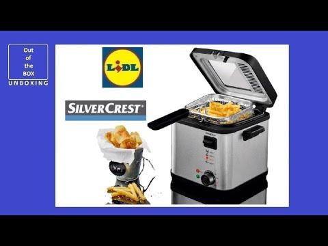 SilverCrest Mini Deep Fat Fryer with Fondue SFM 850 A2 UNBOXING (Lidl 850 W 190 C)