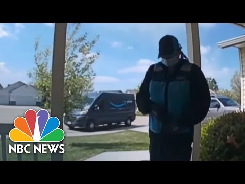 Doorbell Video Shows Amazon Delivery Driver Praying For Baby At Risk Of COVID-19 | NBC Nightly News