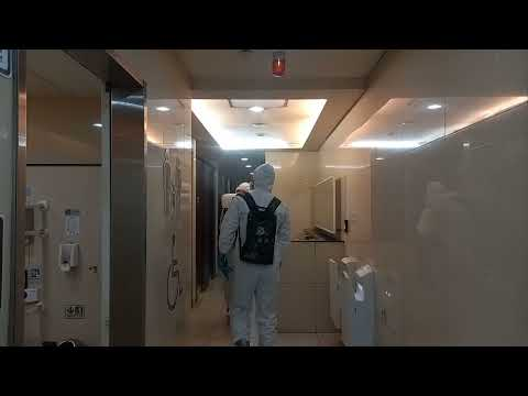 20210824陸軍第六兵團33化學兵群清消北捷車站廁所
