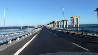 Крымский мост. Арка. Проезд на автомобиле. Июнь 2018