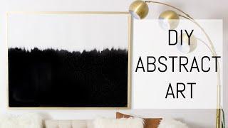 DIY Abstract Art On A Drop Cloth Canvas