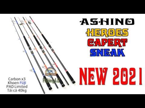 Cần câu ASHINO SNEAK - ASHINO HEROES - ASHINO CAPERT - New 2021