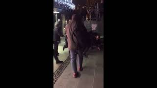 Драка с полицией на манежной площади 27.11.17