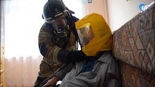 Сотрудники МЧС провели учения в «Новгородском доме ветеранов»