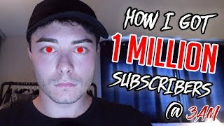 HOW I GOT ONE MILLION SUBSCRIBERS AT 3 AM!! (LIVE REACTION, Q&A)
