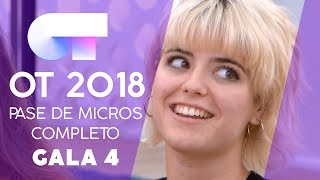 PRIMER PASE DE MICROS (13 OCT)   Gala 4   OT 2018