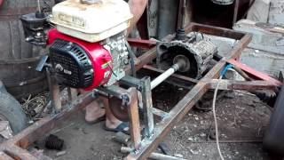 Tractor Facut In Mircesti Noi  2 Proba Cu Motor