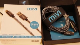 Mivi USB Type C Nylon Braided Cable Review and charge speed test (USB Type A to Type C)