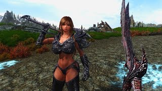 Skyrim mods Mystic Knight Sara,  Frostmourne  and Lich Kings Armor